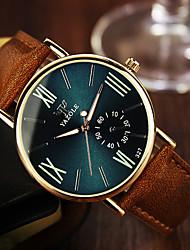 Masculino Relógio de Pulso Quartzo Couro Banda Marrom Preto Azul Real