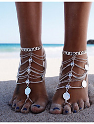 Bohe Anklet Fashion Silver Women's Jewelry Gifts Holiday Beach Barefoot Sandals Body Chain