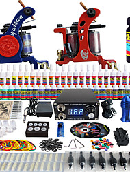 solong tattoo complete beginner tattoo kit pro 2 machines 54 inkten voeding naald grips tips tkb15