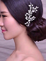 Women Fashion Brief Pearls Hairpin Hair Clip for Wedding Bride