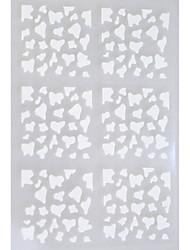 Autocolantes de Unhas 3D / Jóias de Unhas - Abstracto - para Dedo - de Outro - com 5 sheets - 13*7.5