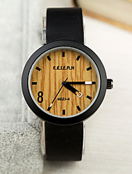 Mens Watches Wood Grain Wrist Watch Synthetic Leather Strap Man Womens Unisex Watch Women Watch Anniversary Gifts Cool Watch Unique Watch
