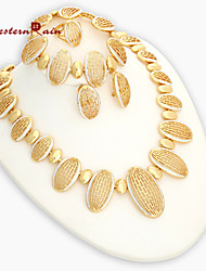 Westernrain 2016 New Gold Plated Women Vintage Party Gold Plated  jewelry Sets