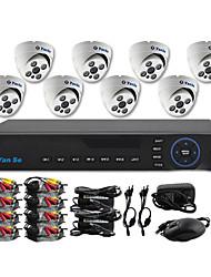 yanse® 8-канальный D1 DVR комплект ИК Цвет купольная система камеры безопасности камеры видеонаблюдения 705cc08