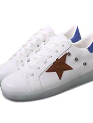 MasculinoConforto Light Up Shoes-Rasteiro-Branco-Sintético-Ar-Livre Casual Para Esporte Festas & Noite
