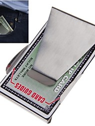 Cash Credit Wallet Slim Money Clip Double Sided Stainless Steel