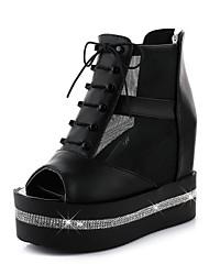 Women's Shoes  Platform Wedges / Peep Toe / Platform Sandals Outdoor Black / White