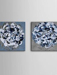 art de toile tendue fleurs bleues Lot de 2