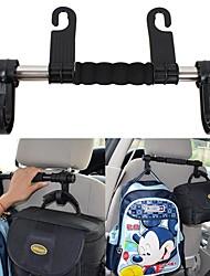 ziqiao siège auto universel dos têtière bagages sacs cintre accessoires de voiture double porte-crochet