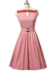 Women's Summer New Fashion High Waist Sleeveless Dress