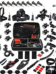 56 in1 Pole Floating Grip Flex Clamp Head Chest Strap Belt Mount Accessories Kit Set For GoPro Go Pro Hero 1 2 3 4