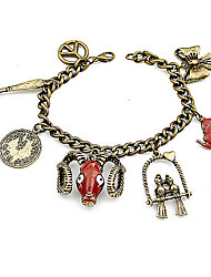 Vintage / Casual Alloy Link/Chain / Charm Bracelet