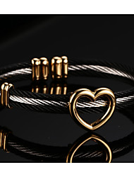 316 Titanium Steel Drawing Heart 18K Ms Bracelet