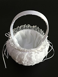 "Flower Basket Satin Lace 9"" (23 cm) Ribbons 1"