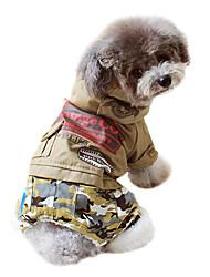 Собаки Толстовки / Комбинезоны Зеленый / Желтый Одежда для собак Зима камуфляж Мода
