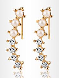 Boucles d'oreille goutte ( Alliage / Imitation de perle / Zircon ) Mariage / Soirée / Quotidien / Casual / Sports