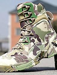 Men's Shoes Amir 2016 Hot Sale Outdoor/Work Leather/Synthetic Camouflage Color Hard-wearing Combat Boots