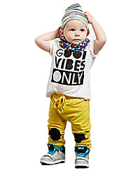 Boy's Cotton Clothing Set,Summer / Spring / Fall Print