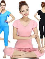 Yoga Ensemble de Vêtements/Tenus Respirable / Douceur Extensible Vêtements de sport Femme-Sportif,Yoga / Pilates