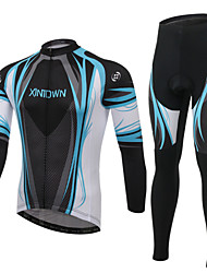 XINTOWN® Cycling Jersey with Tights Unisex Long Sleeve BikeBreathable / Quick Dry / Ultraviolet Resistant / 3D Pad / Ultra Light Fabric /