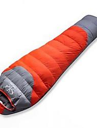 Saco de dormir Tipo Múmia Solteiro (L150 cm x C200 cm) -5 Penas de Pato 1800g 220X80 Campismo Mantenha Quente DesertFox