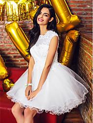 ts couture® cóctel vestido de bola mini vestido de tul joya corto / con apliques / rebordear / cordón