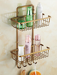 Bathroom Shelf , Traditional Antique Copper Wall Mounted