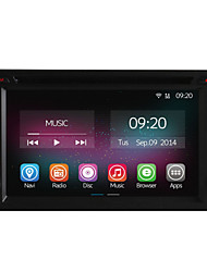 6.2 Inch In-Dash 2 Din Universal Car DVD Player with Quad Core CPU Pure Android 4.4.2 OS GPS Navigation Radio