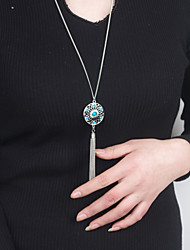 Necklace Pendant Necklaces Jewelry Party / Daily / Casual Alloy Silver 1pc Gift