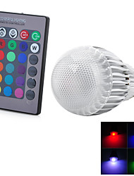 E27 7W 300lm RGB LED Globe Bulb w/IR Remote Control - (AC 85~265V)