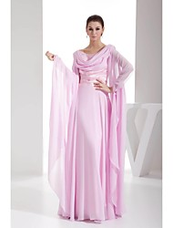 Lanting Ball Gown Mother of the Bride Dress - Blushing Pink Floor-length Chiffon