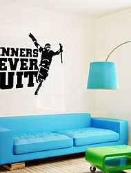 Winners Never Quit  Motivational Quote Wall Sticker Diy Decorative Inspirational Quote Wall Decal