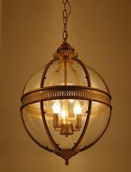 Iron Bronze Chandelier Lamp Glass A