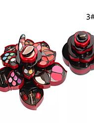 33 Puder + Mascara + Lippenstifte + Kosmetik Box Matt Augen / Gesicht / Lippen / Augenwimpern Farbiger Lipgloss / Abdeckung / Concealer