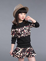 The Spring And Autumn Period And The Long Sleeve Printing Jacket Skirt 2 Sets Of The Girls