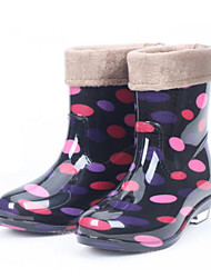 Women's Shoes Rubber Flat heel  Martin  Rain Boots Puddle Rain Boot  with Tie and Lining
