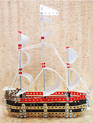 Jigsaw Puzzles 3D Puzzles / Metal Puzzles Building Blocks DIY Toys Ship 333 Metal Red Model & Building Toy