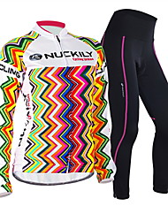 NUCKILY Bike Spring summer female long-sleeved jersey suits and equipment