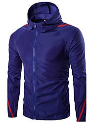 Men's Long Sleeve Jacket,Polyester Casual / Work / Formal / Sport Color Block