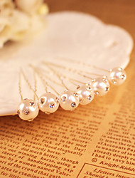Women's Rhinestone / Imitation Pearl Headpiece - Wedding / Special Occasion Hair Pin 5 Pieces