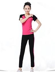 Running Bottoms / Clothing Sets/Suits / Pants Women's Short Sleeve Breathable / Ultra Light Fabric / Softness / Soft ModalYoga / Fitness