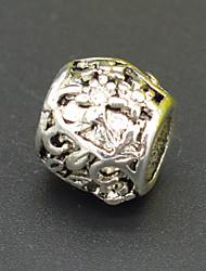 diy perles bracelet collier accessoires de boucle d'oreille en argent vert perles motif végétal de bijoux de Murano hac0015
