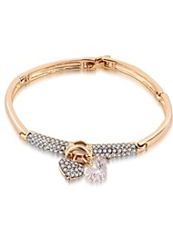 Hot New Charming Lovely Simple Bling Elegant Heart Bracelet Bangle Party Jewelry For Women
