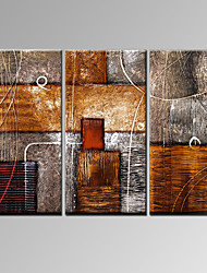 VISUAL STAR®Modern Handmade Oil Painting Triptych Home Decor Wall Art Ready to Hang