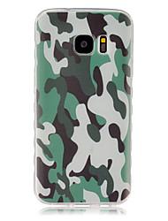Für Samsung Galaxy Hülle Muster Hülle Rückseitenabdeckung Hülle Tarnfarben TPU SamsungS7 / S6 edge / S6 / S5 Mini / S5 / S4 Mini / S4 /