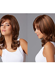Fashionable Synthetic African American wigs Long Wavy hair wig for women Sexy Natural wigs with Bangs sw0038