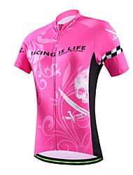 Camisa para Ciclismo Mulheres / Homens / Unissexo Manga Curta MotoRespirável / Secagem Rápida / Permeável á Humidade / Bolso Traseiro /