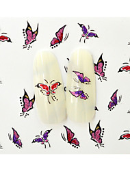 10PCS 3D Water Transfer Beautiful Butterfly Nail Art Sticker DIY Nail Tools Decoration  Nail Tips BLE1000D