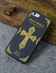 Black Wood iphone Case Holy Bible 1611 Latin Cross Religion Hard Back Cover for iPhone 6s/iphone 6