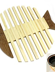 1 PCS Бамбук Круглый Салфетки-подстилки / Бирдекели Декор для дома